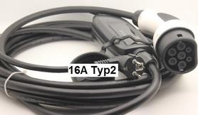 Ładowarka samochodu elektrycznego 16A typ2 230V i3 Leaf Tesla i3 i8 IEC62196