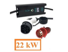 Ładowarka samochodu elektrycznego 3x32A 22kW Typ2 i3 Leaf Tesla IEC62196 Wallbox