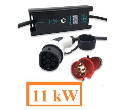 Ładowarka samochodu elektrycznego 3x16A 11kW Typ2 i3 Leaf Tesla IEC62196 Wallbox