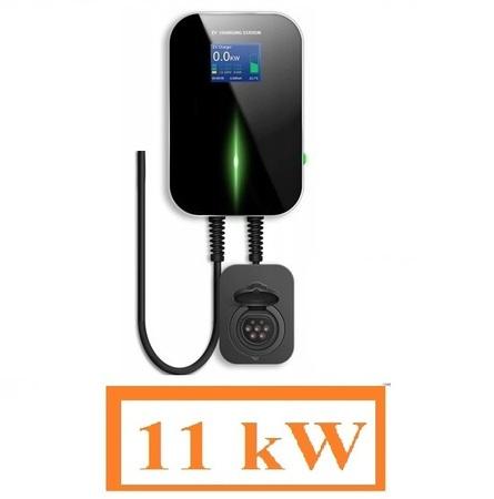 Stacja ładowania samochodu elektrycznego Wallbox 3x16A 11kW Typ2 i3 Leaf Tesla IEC62196