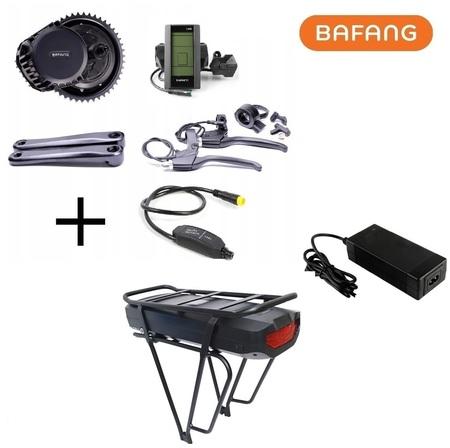 Elektryczny zestaw do roweru Bafang 1000W 48V 1kW + bateria 840Wh na bagażnik
