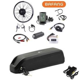 Elektryczny silnik zestaw do roweru Bafang 500W 48V Przód kompletne koło + bateria 14Ah