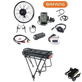 Elektryczny silnik zestaw do roweru Bafang 500W 48V Przód kompletne koło + bateria 14Ah na bagaąnik