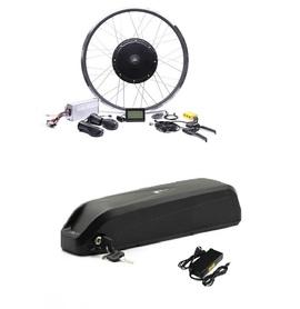 Kopia - Elektryczny silnik zestaw do roweru 2kW 48V Tył wolnobieg kompletne koło + bateria 17,5Ah