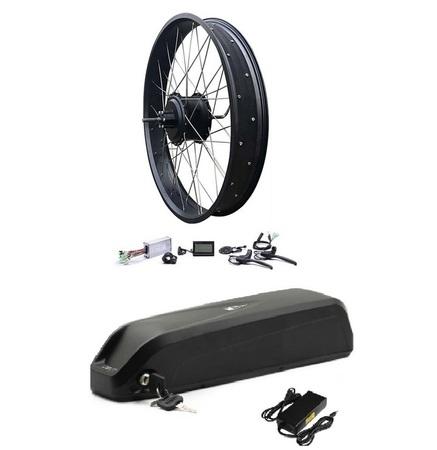 Elektryczny silnik zestaw do roweru 750W 48V Tył kompletne koło Fatbike Bafang + bateria 17,5Ah