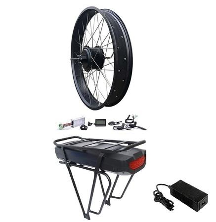 Elektryczny silnik zestaw do roweru 750W 48V Tył kompletne koło Fatbike Bafang + bateria 17,5Ah na bagażnik
