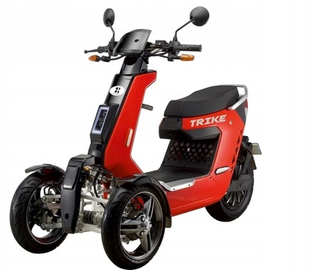 Skuter elektryczny trójkołowy Trike homologacja 2kW